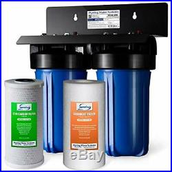 ISpring WGB21B 2-Stage Whole House Water Filtration System, 4.5X10 Big
