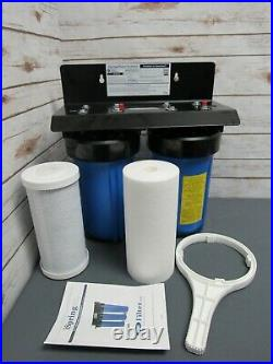 ISpring WGB21B 2-Stage Whole House Water Filtration System with 10x4.5 Filter -F