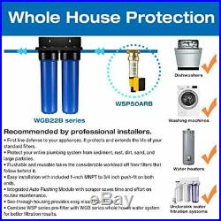 ISpring WGB22B 2-Stage 4.5 x 20 Whole House Water Filtration System Big Bl