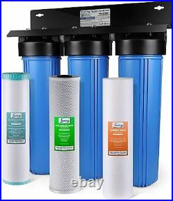 ISpring WGB32BM 3-Stage Whole House Water Filtration System with 20-Inch Big Blue