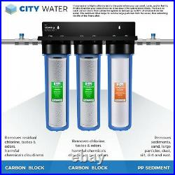 ISpring WGB32B 3-Stage Whole House Sediment & Chlorine Reducing Water Filtration