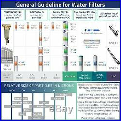 ISpring WGB32B-PB 3-Stage Whole House Water Filtration System with 20-Inch Big