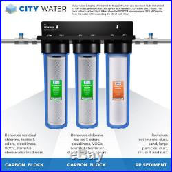 ISpring WGB32B Three Stage 20-Inch Big Blue Whole House Water Filtration System