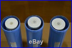 ISpring WKB32B 3 Stage 20-Inch Big Blue Whole House Water Filtration System