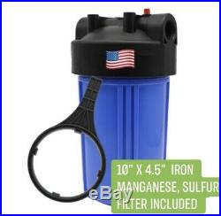 Iron/Sulfur Removal Whole House Water Filter System Drinking Water Big Blue 10