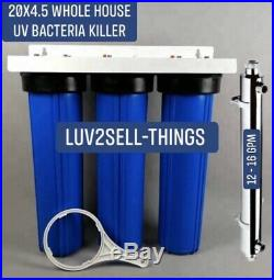 Iron/Sulfur Removal Whole House Water Filter System Drinking Water UV Bacteria