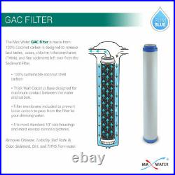 Max Water 3 Stage 20 Whole House Water Filter GAC CTO
