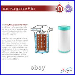 Max Water Whole House Iron Manganese Water Filter for 10x4.5 Big Blue systems