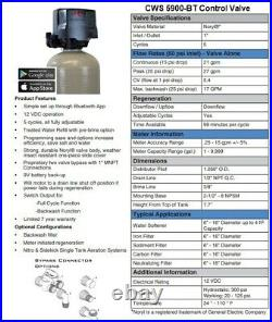 Nitrate & Sulfate Well Water Filter Whole House Well Water Filter 5900-BT 1.0 CF