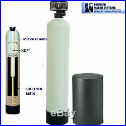 PREMIER Well Water Softener + Iron Remover Water System KDF 85 32000 grain 9x48