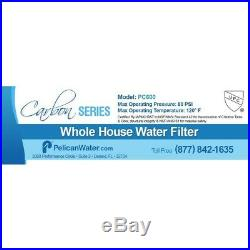 Pelican Water Drinking Water Filter Carbon Replacement Media PC600 Whole House