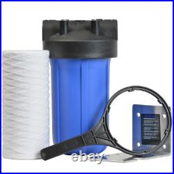 Pelican Water Whole House Water Filter 10 GPM Bypass Valve 1 Stage Threaded