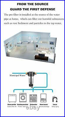 Pre Filter Whole House Water Filter Central Purifier System 40micron 316