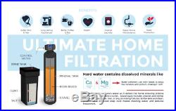 Premier Whole House Water Softener with Meter Valve 48000 Grain 1-4 person home