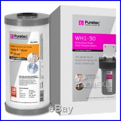 Puretec WH1 30 Whole House MaxiPlus Single Water Filter System 10 inch