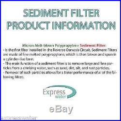 Sediment Water Filter 5 PACK Cartridges Whole House Biodiesel WVO SVO 10 x 2.5