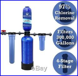 Series 4-Stage 300,000 Gal. Whole House Water Filtration System 20 Pre-Filter