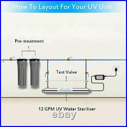 Stainless Steel UltraViolet Water Sterilizer for Whole House Water Filter