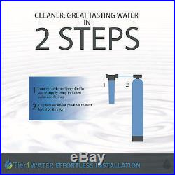 Tier1 Whole House Carbon+KDF Water Filter System for 1-3 Bathrooms w Pre-Filter