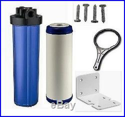 Water Filter KDF85/GAC FILTER IRON/H SULFIDE 20x4.5 Big Blue Water Filters