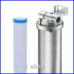 Water Softener System Alternative 3-Stage Pleated Hard Water Filter Household