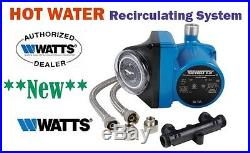 Watts Premier 500800 Whole House Hot Water Recirculation Pump System Blue 110V