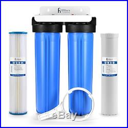 Well Water Whole House Filtration System 20 Dual Stage Complete Commercial Odor