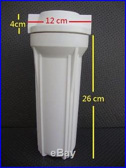 White 10 filter Housing with lid For whole House water System 1/2 port