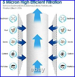 Whole House 10 Water Filter System 3-Stage Filtration + Sediment Water Filter