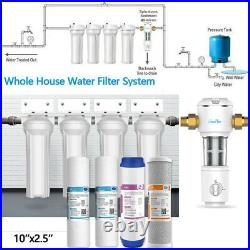 Whole House 10 Water Filter System 4-Stage Filtration + Sediment Water Filter