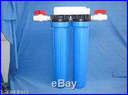 Whole House Water Filter 20/Sediment/Carbon/Drinking 3/4 Ports H2O Splash