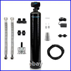 Whole House Water Filter 57 in. H Bypass Valve Programmable Threaded Black