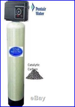 Whole House Water Filter Fleck 2510 Mechanical Timer 2 CU FT Catalytic Carbon