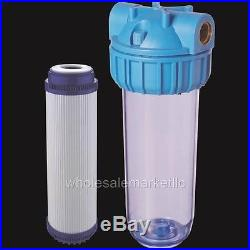 Whole House Water Filter Purifier with GAC Carbon Cartridge for Chlorine & Odors
