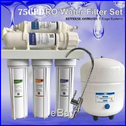 Whole House Water Filter System W / 5 STAGES Filter Replacement 75GPD TDS Tester