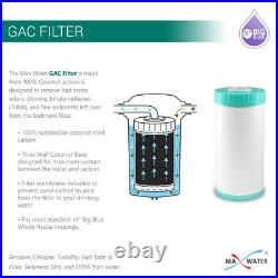 Whole House Water Filtration System 10x 4.5 Municipal & Well Water 1'' Ports