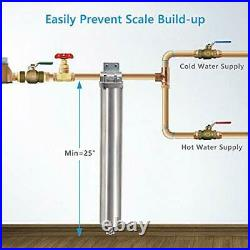 Whole House Water Softener System Alternative 3-Stage Pleated Hard Water Filter