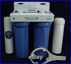 Whole House Water System, Water Filter, 3/4 inlet, Big Blue, 2 1/2 x 10