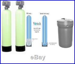 Whole house Water Filter, Catalytic Carbon & Water Softener Vortech Tanks Dual