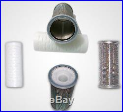 Whole house water filtration System NEW Compact filter Reduces scaling in water