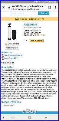Whole house water softener Aqua pure AWS100M NEW IN BOX